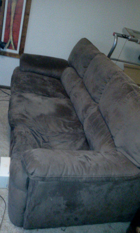 For sale urgent sale suede sofa comfortable couch 3 for Comfy couches for sale