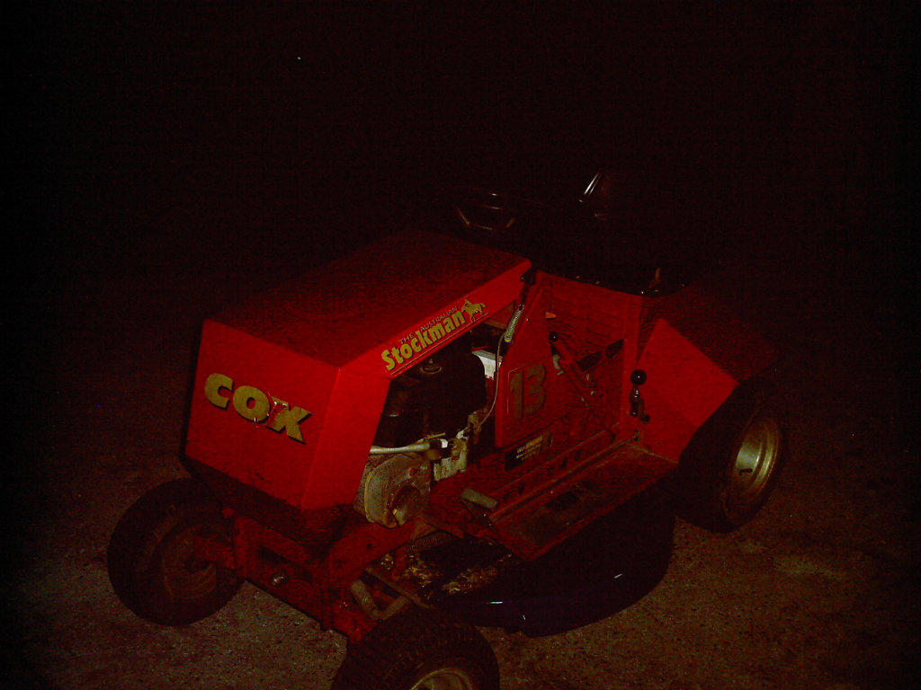 how to start a cox ride on mower