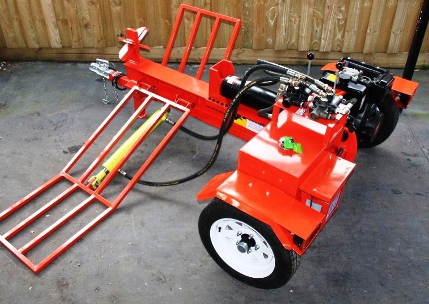 For Sale Diesel Log Splitter 37t Elec Start Hydraulic Lift